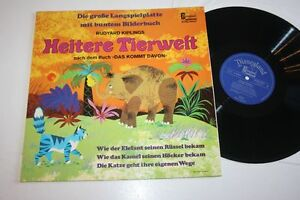 HEITERE-TIERWELT-mit-buntem-Bilderbuch-Vinyl-VG-12-034-LP-Walt-Disney-Disneyland
