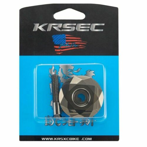 "KRSEC Aluminum 1 1//8/"" Headset Stem Top Cap with Bolt 1Set for Road Mountain Bike"