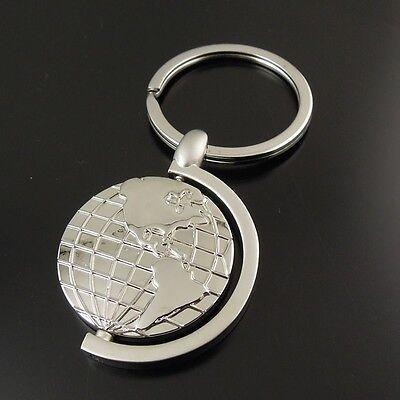 Fashion Style Globe Keychain Keyrings Fot Gift Hot Sale AM0672