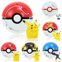 Pokemon Go Bounce Pokeball Pikachu Monster Cosplay Pop-up Fighting Poke Ball Toy