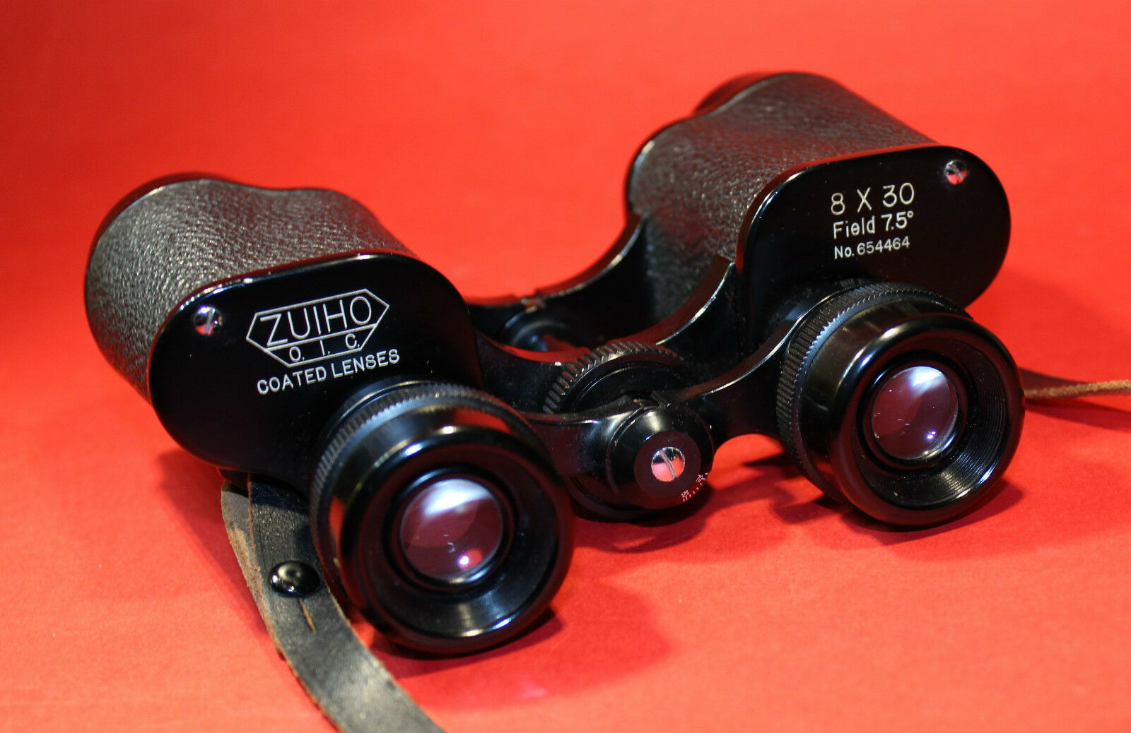 ZUIHO O.I.C. Coated Lenses FERNGLAS 8 x 30 Field 7 7 7 5° No. 654464 Japan Vintage 0d4cfc