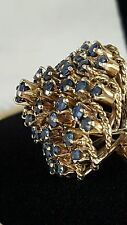 Gorgeous Estate 14K Dome Blue Spinel Ring. AMAZING Shade Of Blue!