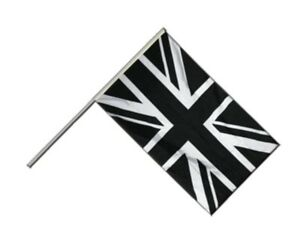 Großbritannien Union Jack schwarz Stockflagge Flaggen Fahnen Stockfahne 30x45cm