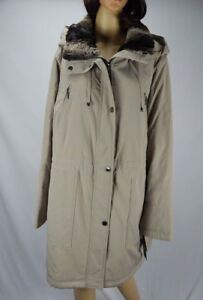 1a312476fa2 Women s Fleet Street Mushroom Beige Anorak Coat Faux-Fur Trim Collar ...