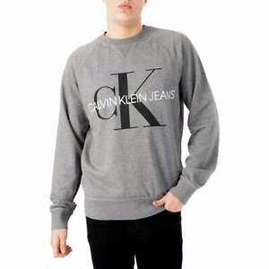 Calvin-Klein-Homme-wasked-Monogram-Sweat-shirt-gris