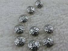 50 Hotfix Nailhead  gehämmert 5mm Silber