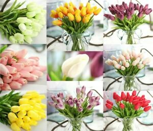 White mini tulips centerpieces real touch flowers wedding silk image is loading white mini tulips centerpieces real touch flowers wedding mightylinksfo