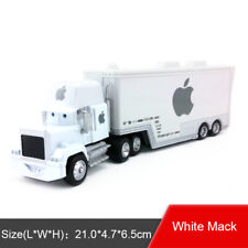 Disney Pixar Cars White Apple Mack Racer's Truck & Jobs Toy Car 1 55