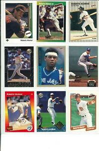 Lot-2-of-45-Roberto-Alomar-Cards-w-Rookies-RC-amp-Inserts-MLB-San-Diego-Padres
