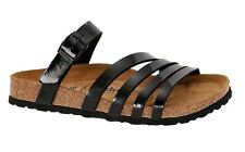 6eea5272e1e9 Betula by Birkenstock Borneo womens Thongs Slides Sandals Patent Birko-Flor  SFB