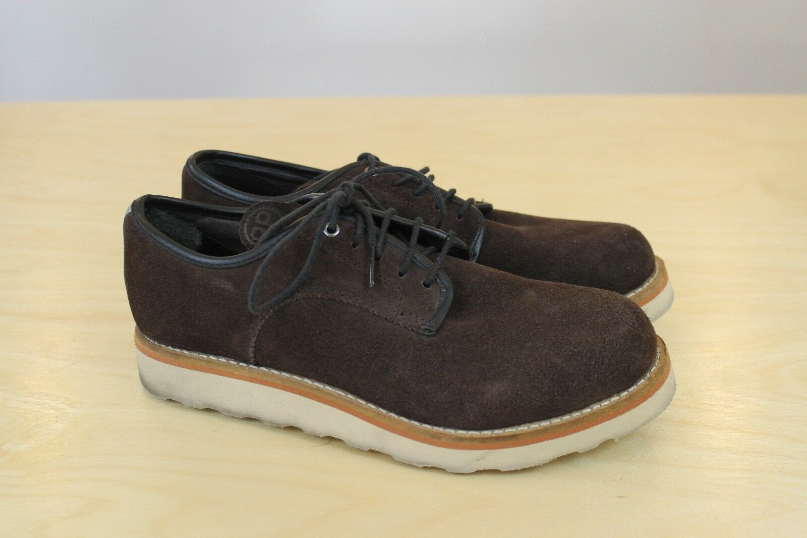Quoc Pham Derby Cycling shoes 7.5 Mens Casual Commuter Brown Suede SPD 40.5 EU