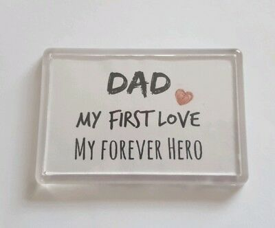 Keepsake Fridge Magnet Fathers Day Gift. Birthday Gift Dad Quote// Poem Gift