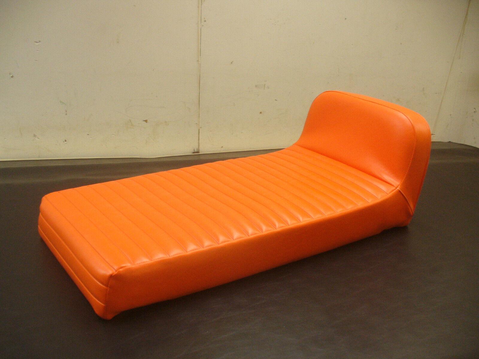 1969-1971 JOHNSON SKEEHORSE  orange PLEAT SNOWMOBILE SEAT COVER   NEW