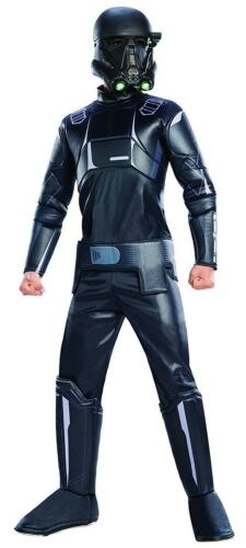 ~NEW ages 5-7 Star Wars Rogue One Boys Death Trooper Deluxe Costume~Size Med