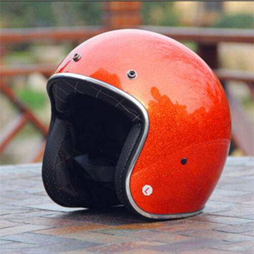 AMZ 819 Motorcycle Helmet DOT Retro Helmets Chopper Cruiser Helmet