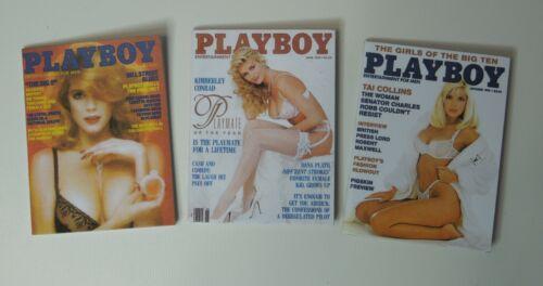 set of 3 1//6 Scale Playboy Magazines