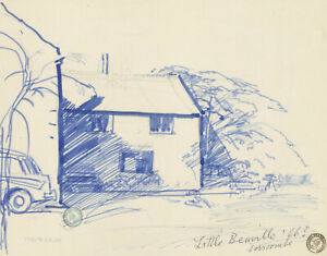 Frank Griffith (1889-1979) - Early 20th Century Pen and Ink Drawing, House Study
