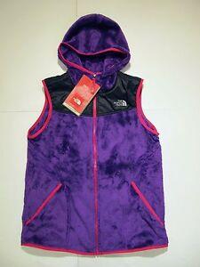 2442c1629b69 New tag Girls North Face Pixie Purple Oso Hoodie Fleece Winter Vest ...