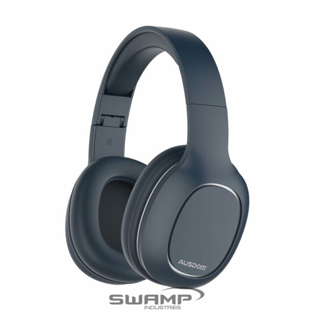 Ausdom M09 Bluetooth Foldable Over-Ear Wired Wireless Headphones - Blue