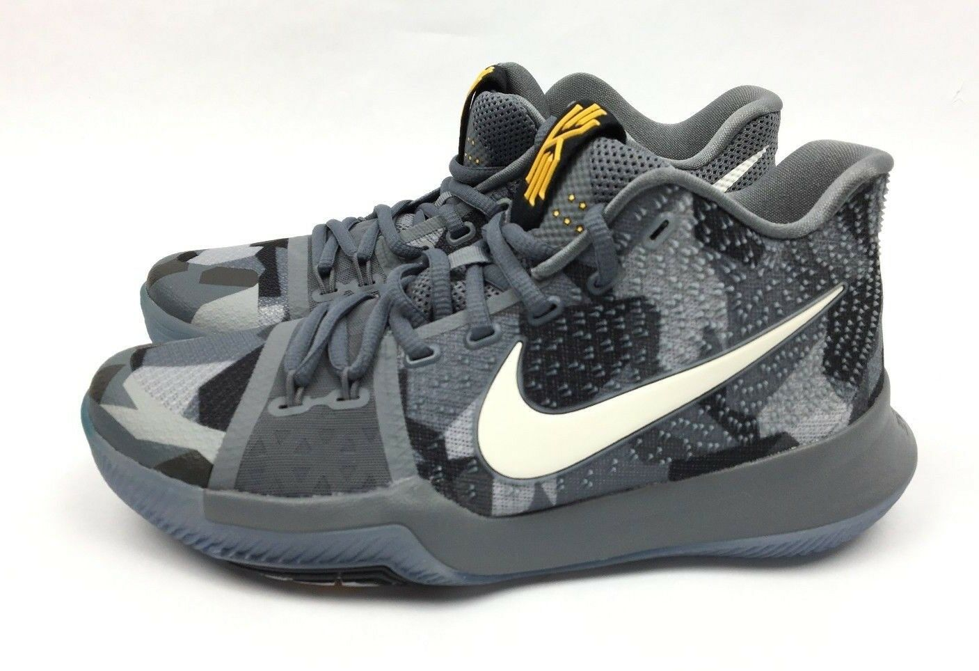 Nike Kyrie 3 Mens Basketball Shoes Girls EYBL Rare Sample Grey SZ  7 942206-002