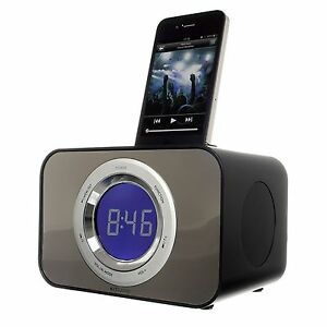 iphone docking station with speakers bush station speaker dock alarm clock for ipod 5206