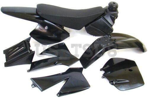 Plastic Body Kit -Black- NEW for KTM50 Mini Adventure SX Pro JR Seat Fuel