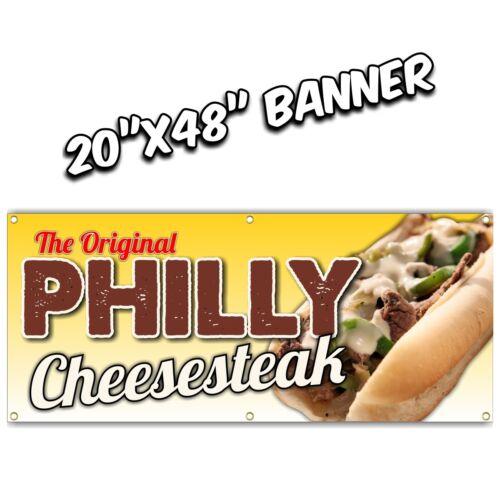 PHILLY CHEESE STEAK BANNER  chicken bbq pork fries sausage hot dog hot wings