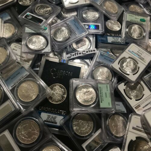 P CC Mint✯ S ✯Estate Coin Lot US Morgan Silver Dollar ✯1 PCGS or NGC UNC ✯ O