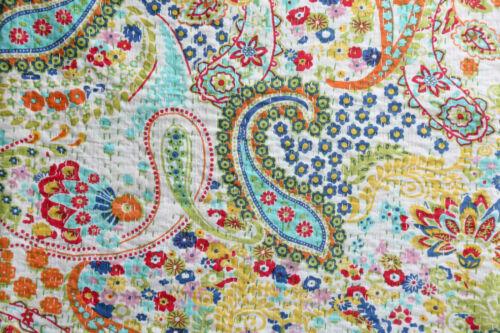 Handmade Quilt Vintage Kantha Indian Bedspread Throw Cotton Blanket Ralli Gudari