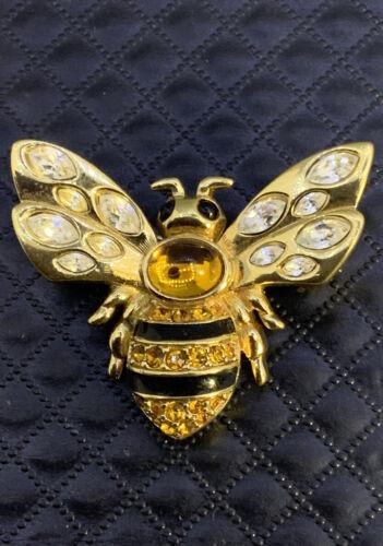 Swarovski Crystal Pave Bee Brooch
