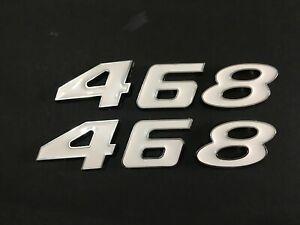WHITE FORD 408 STROKER ENGINE ID HOOD SCOOP FENDER QUARTER TRUNK EMBLEMS