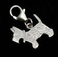 925 Sterling Silver Terrier Clip on Bracelet Charm