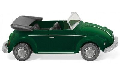 #080208 - Wiking Vw Maggiolino Cabrio-yucca Verde Metallico - 1:87-mostra Il Titolo Originale Elegante Nello Stile
