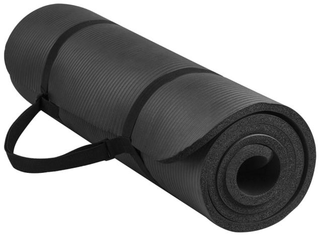 BalanceFrom GoYoga Exercise Yoga Mat - Black