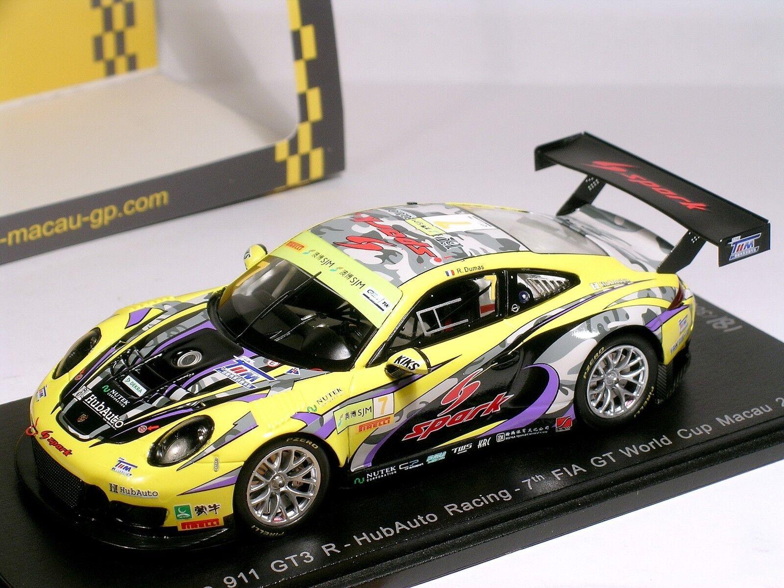 Porsche 911 GT3 R  7 HubAuto Romain Dumas Macau 2017 - Spark 1 43 (SA138)