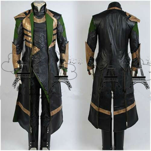 The Avengers THOR Ragnarok Loki Cosplay Costume Full Set Custom Made Halloween
