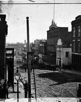 8x10 Civil War Photo: Federal Wagon Train On Marietta Street In Atlanta