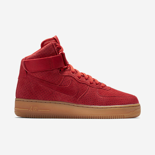 749266-601 Women's Nike Air Force 1 Hi Suede Casual Shoes UNIVERSITY RED