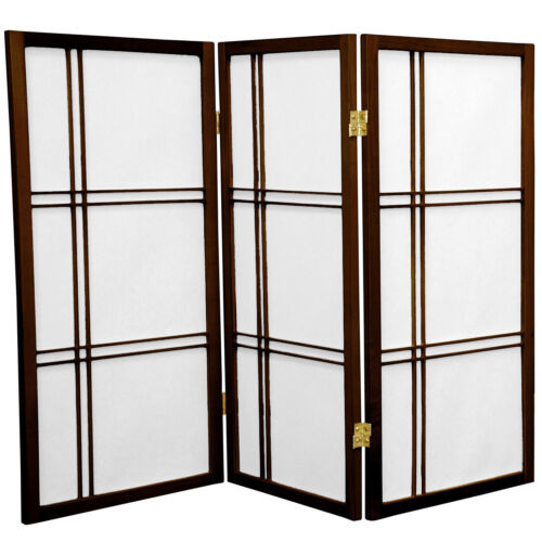 Tall Double Cross Shoji Screen Oriental Furniture 3 ft