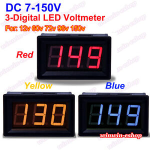 DC 3.50-30V 4 Digital LED Volt Voltage Meter Voltmeter 5V 12V 24V Car Battery G