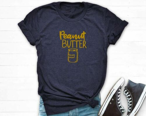 Peanut Butter Jelly T-Shirt Cute Funny Friend Shirts Casual Tee Brunch Tee Tops