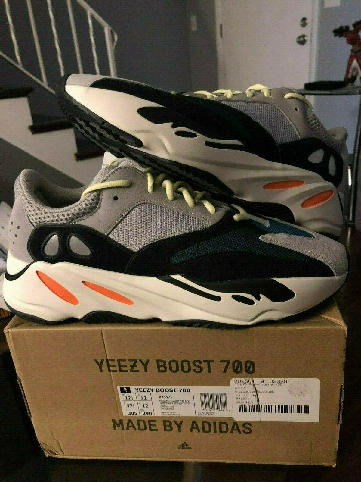 Adidas Yeezy Boost 700 Waverunner Solid Grey B75571 BRAND NEW mismatch size READ