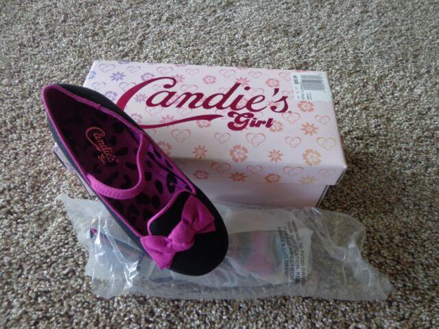 Candies Toddlerkids Nwot Sz 10 Blackpurple Slip On Dress Shoes