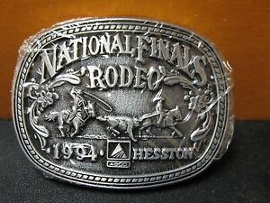Vintage 1995 Hesston National Finals Rodeo Youth Size Belt Buckle FREE SHIPPING!