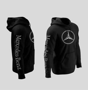 mercedes benz logo hoodies xs 3xl size ebay. Black Bedroom Furniture Sets. Home Design Ideas