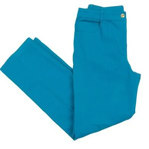 ST-JOHN-Yellow-Label-Women-039-s-5-Pocket-Pants-Jeans-Teal-Gold-Hardware-Size-10