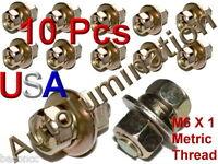 Zinc Plated 6mm Hex Bolts Washers & Nut M6 X 1.0 Metric Thread Fender Body