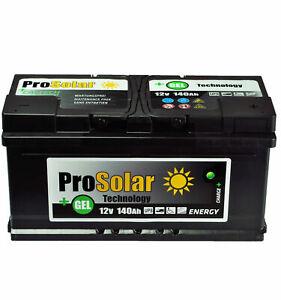 Gel-140Ah-Batterie-Solaire-Batterie-D-039-Alimentation-Verbraucherbatterie-Gel