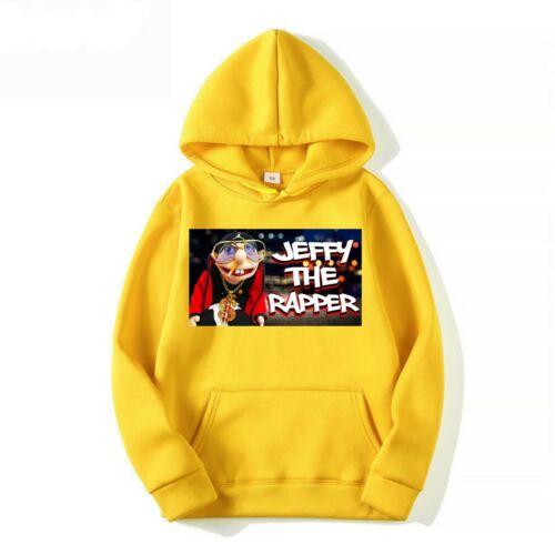 Jeffy marionnette rappeur Enfants Sweat à capuche youtuber Garçon Fille Enfants Cadeau de Noël à Capuche