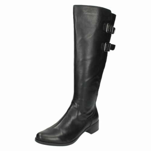 Clarks Boots High Knee Ladies Me Leather Black likeable wUagxaZq
